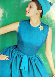 1960s dress - love this shade of blue!