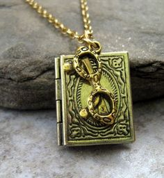 """""""The Librarian"""" necklace"""