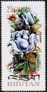 Sello: Iceberg (Bután) (Roses) Mi:BT 546A,Sn:BT 150A,Yt:BT 408
