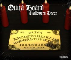 Ouija BoardSpooky fun for Halloween, if you dare. Found under sculptures.DownloadIt isn't perfect, but I was tired of fighting with blender and gave up.