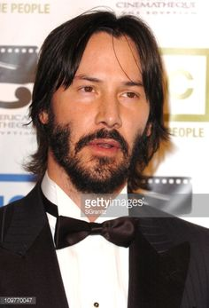 Keanu Reeves during 20th Annual American Cinematheque Award Honoring Al Pacino Arrivals at Beverly Hilton Hotel in Beverly Hills California United...