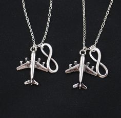 set of two necklaces long distance friendship large by vespestudio