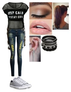 """""""Alex's Outfit #9"""" by animegirl694 ❤ liked on Polyvore featuring Converse"""