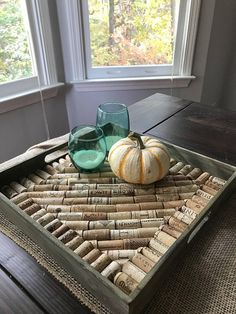 This beautiful large tray would be perfect for your table, kitchen island, entry door or even your office .It measures 14.75 diagonally and is 2 tall. This is a finished product for sale as shown in the photo above. If you are looking for a different size, design or tray color,