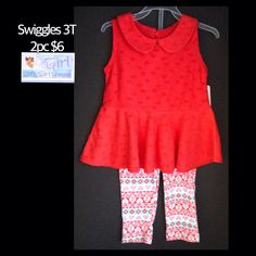 Swiggles 3T Toddler Girls 2pc Outfit Set NEW W/Tag $6