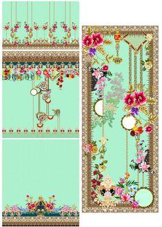 Textile Design, Printing On Fabric, Digital Prints, Textiles, 3 Piece, Ideas, Fingerprints, Fabric Printing, Fabrics