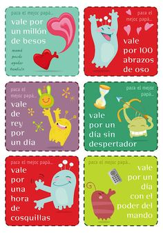Do your kids need a last-minute #FathersDay gift? Print out these cute coupons featuring gift phrases en español!