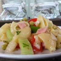 Pasta salade met ham en kaas : Recepten van Domy