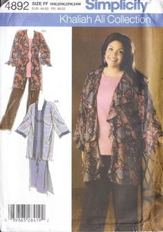 Plus Size Kimono Dress Or Tunic & Pants ( 18W-24W ) Khaliah Ali Sewing Pattern