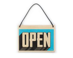 While Supplies Last | Open Sign: Blue, Wood