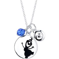 18 Disney Sterling Silver Frozen Olaf Cable Chain Pendant Necklace ($40) ❤ liked on Polyvore featuring jewelry, necklaces, sterling silver pendant necklace, pendant jewelry, sterling silver jewellery, disney and sterling silver necklace pendant