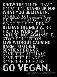 GO VEGAN -Theme for January [recommit in 2015!]