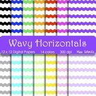 These Wavy Horizontal digital papers include 14 12x12 300 dpi papers.  All papers are saved as .jpg.  Please include a link back to my store if you...