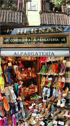 There is only one Casa Hernanz, where the long wooden counter dates back to the 19th century and the shoes are made by hand.The Hernanz f...  #handcrafted #espadrilles