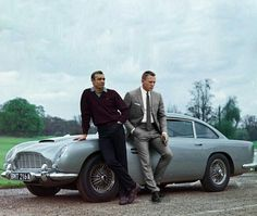 Bond's Astin Martin DB5 - The best car ever and the two greatest Bonds ever. BOOM