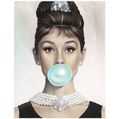 #inspirational #painting of #AudreyHepburn by #artist #MichaelMoebius Audrey Tiffany Blue