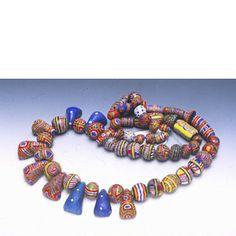 Classic strand of Mauritanian kiffa beads.