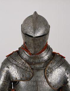 Finely engraved armor made for Don Alonso Perez de Guzman el Bueno duke of Medina Sidonia Milan Italy circa 1590 from /r/ArtefactPorn Medieval Knight, Medieval Armor, Medieval Fantasy, Armadura Medieval, Arm Armor, Body Armor, Armor Clothing, Knight Armor, Fantasy Armor