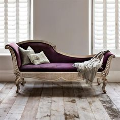 Purple chaise lounge will be the best option for your living room. Purchasing this lounge, you need to also some guides in order to find the best styles of it. Comfortable Chaise, Chaise Lounge Sofa, Furniture, Chaise, Fainting Couch, Home, Bedroom Furniture, Lounge Sofa, Lounge