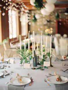 Chalk Wine Bottle Wedding Centrepiece