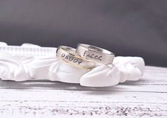 Ring  Stainless Steel  Personalized  Hand by delenasdesigns, $30.00