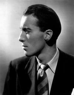 Christopher Lee photographed in 1940s,