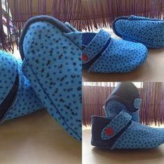 #kreativlaborberlin #kinderschuhe mir Stoff und recycelter #Jeans Kombi