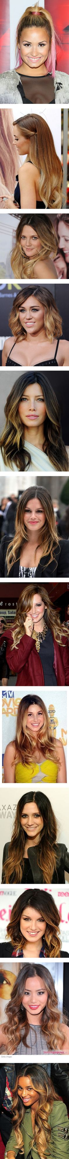 """""""Trending:Ombrè Hair"""" by marymary91 ❤ liked on Polyvore"""