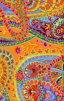 paisley jungle tangerine #paisley