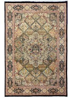 "Black Persian Bakhtiar Rug 6' 2"" x 9' 7"" (ft) - No. 11988   http://alrug.com/bakhtiar-rugs/black-persian-bakhtiar-rug-6-2-x-9-7-ft-no-11988.html"