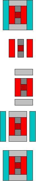 simple log cabin quilt block