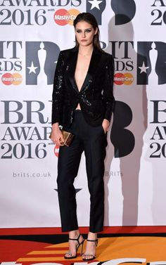 Share this Style | #BritAwards #celebs #fashion #outfit  #Brit #CharlotteWiggins #RedCarpet #suit