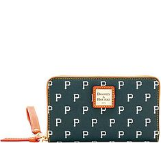 Dooney & Bourke MLB Pirates Zip Around Phone Wristlet