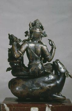 Nandi the  Sacred Bull supports Shiva and Parvati nepal 15-16C