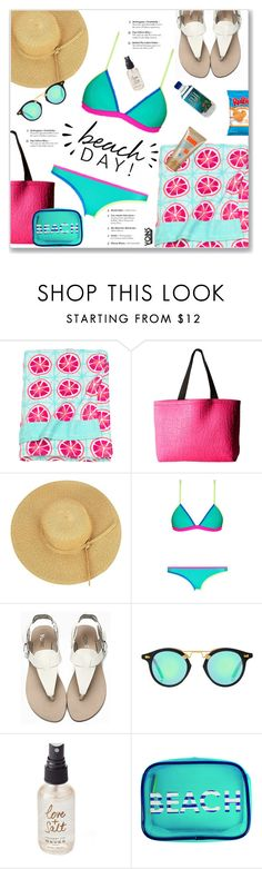 """""""A Day at the Beach Yoins 2/23"""" by kellylynne68 ❤ liked on Polyvore featuring H&M, Fox, Old Navy, Olivine and MACBETH"""