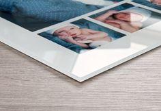 Akrylglas-tavlor för något personligt motiv per anställd och för en vägg med referens-objekt.