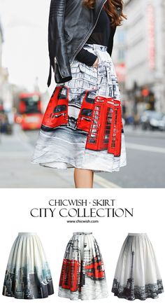 CITY print midi skirt featured by larisacostea Blog