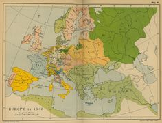 Map of Europe in 1648