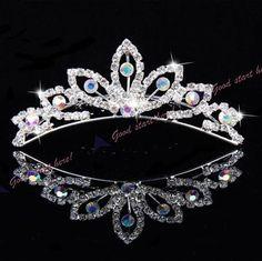 Tiara Coroa Luxuosa Festas Formaturas Casamentos