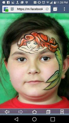 Mermaid facepaint