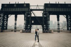 Suzanna+David. Long Island City Engagement Shoot