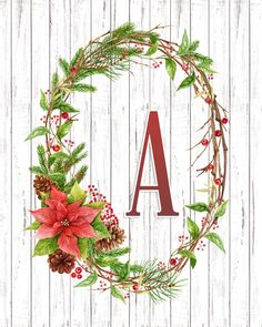 You are going to love this Collection of Free Printable Farmhouse Christmas Poinsettia Monograms. You can make Banners! Tags! Cards and more! Enjoy!