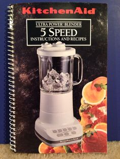 New kitchenaid diamond 5 speed smoothie mixer kitchen food kitchen aid kitchenaid ultra power blender 5 speed instructions recipes book forumfinder Choice Image