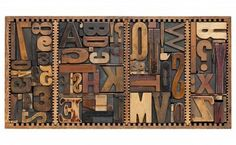 Box Of Vintage Wood Printing Blocks - Letters, Numbers, Symbols,.. Royalty Free Stock Photo, Pictures, Images And Stock Photography. Image 9614107.