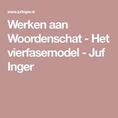 Werken aan Woordenschat - Het vierfasemodel - Juf Inger