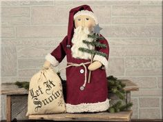 "C14088 Vintage Saint Nick with Tree Size: 17"" Tall Material: Fabric - See more at: http://www.honeyandme.com/shop/index.php/products/c14088-vintage-saint-nick-with-tree#sthash.x2jxm7S6.dpuf"