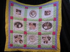 Photo Memory Quilts made from your photos - many different sizes available. (by Ruth Blackwell)