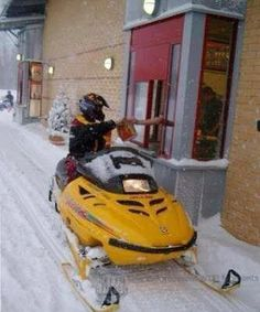 only in Canada :) - other places too, but we had two skidoos back in Ontario that my dad had and we always went out every winter. Iowa, Oklahoma, Ohio, Canadian Things, I Am Canadian, Canadian Humour, Justin Trudeau, Ottawa, Wyoming