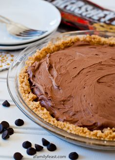 No-Bake Chocolate Cheesecake Pie - A Family Feast
