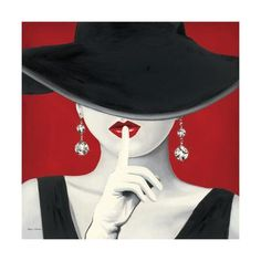 Great Big Canvas 'Haute Chapeau Rouge I' by Marco Fabiano Painting Print Size: H x W x D, Format: Black Framed Painting Frames, Painting Prints, Art Prints, Art Paintings, Framed Art, Framed Prints, Canvas Prints, Canvas Artwork, Big Canvas